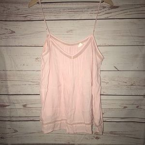 Gap Mesh Insert Tank Top Misty Rose Size XXL